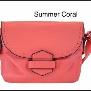 Handbags - Coral Soft Faux Leather Crossbody